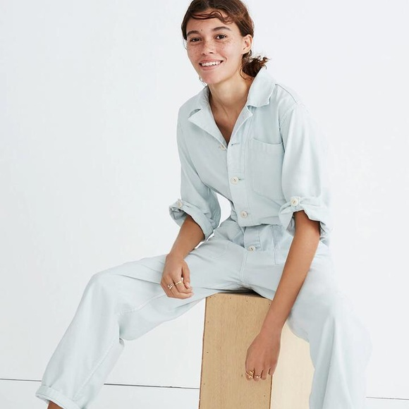 429ce77bee25 Madewell Pants - Madewell x As Ever light blue coveralls